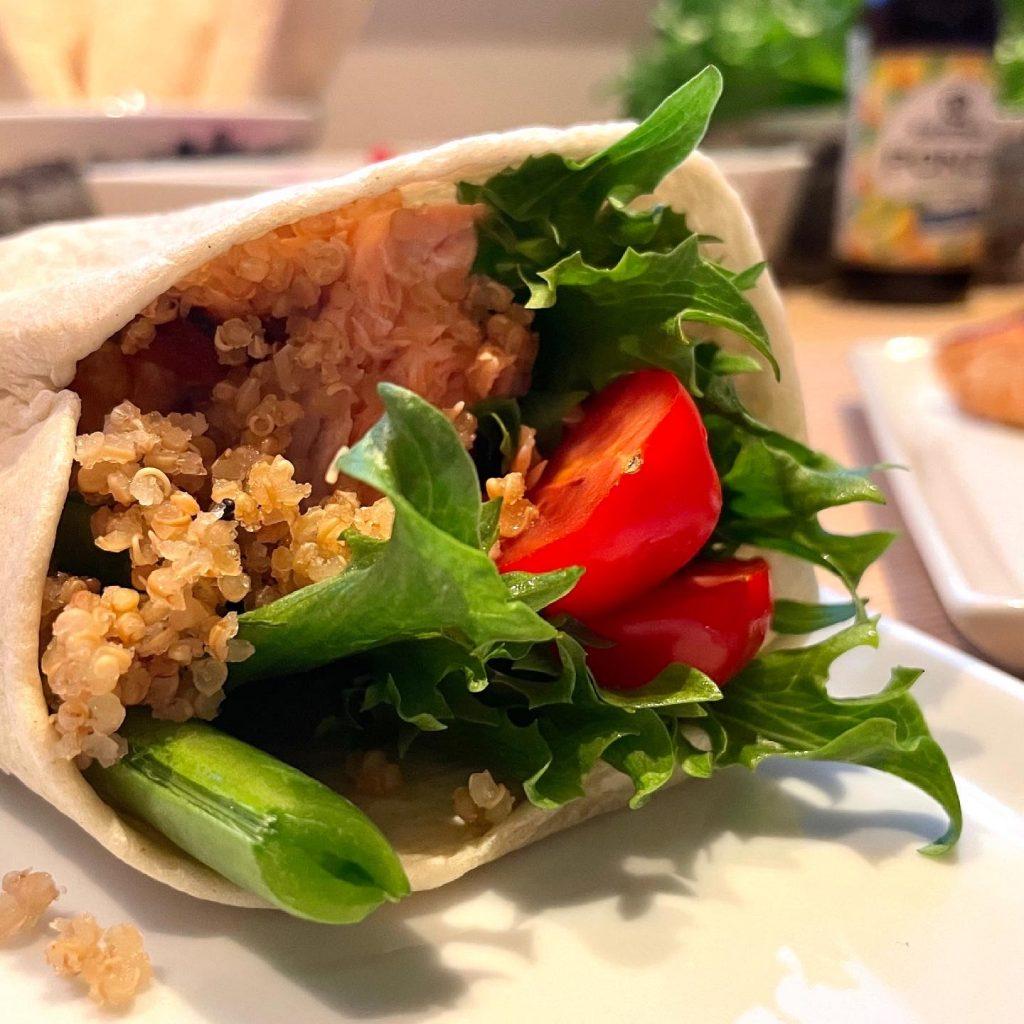 Laks med quinoa