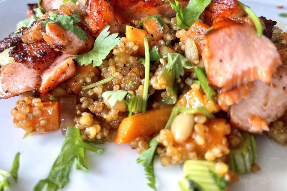 Ørret med quinoa