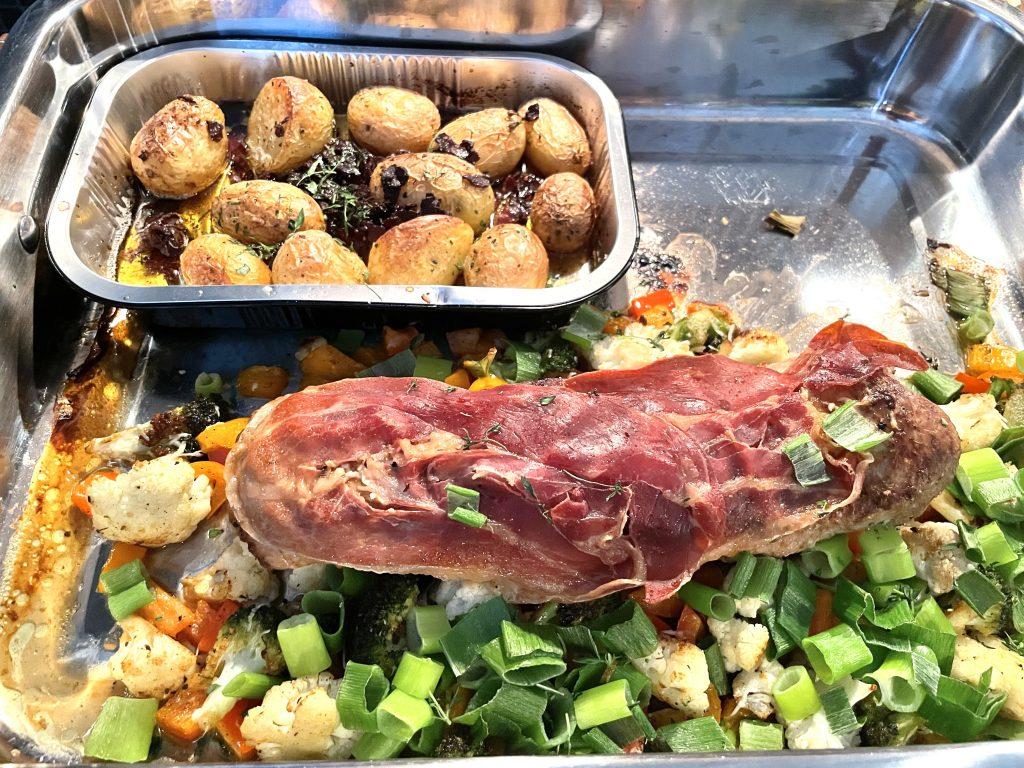 Svin indrefilet med baconbakt potet