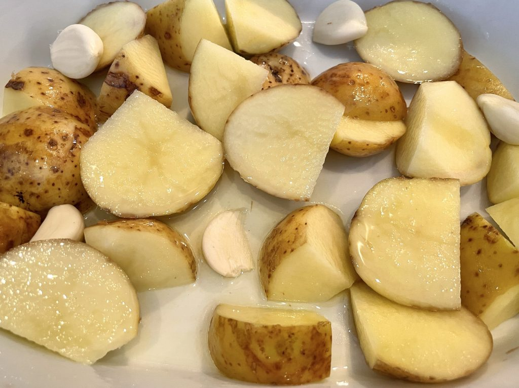 Bakt potet og grønnsaker