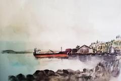 Akvarell-kopimalt-av-onkel-Bjorn-Hanssen-pa-80-tallet