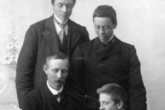 Jakob Braseth og Jørgen Borgan (foran) Julius Bruheim og Jakob Hegge.