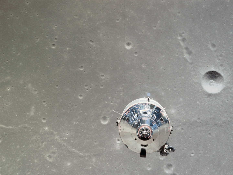 Apollo and moon surface