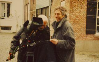 Stephan Bleek bei Dreharbeiten 1997