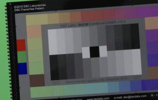 Farbkarte bei Studiodreh