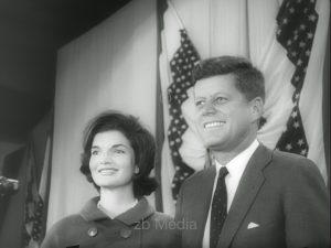 Election winner John F. Kennedy with Jacqueline Kennedy 1960