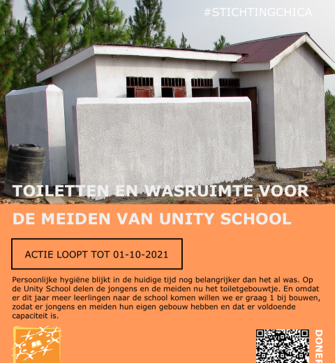 Actieposter Unity School, Toiletten en Wasruimte