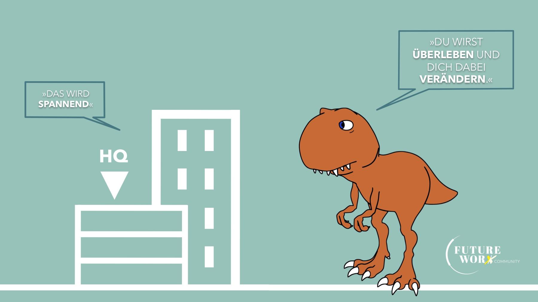 Zusammenarbeit in der Future WorX Community - Dinosaurier Fazit zur Frage des Aussterbens vom Headquarter