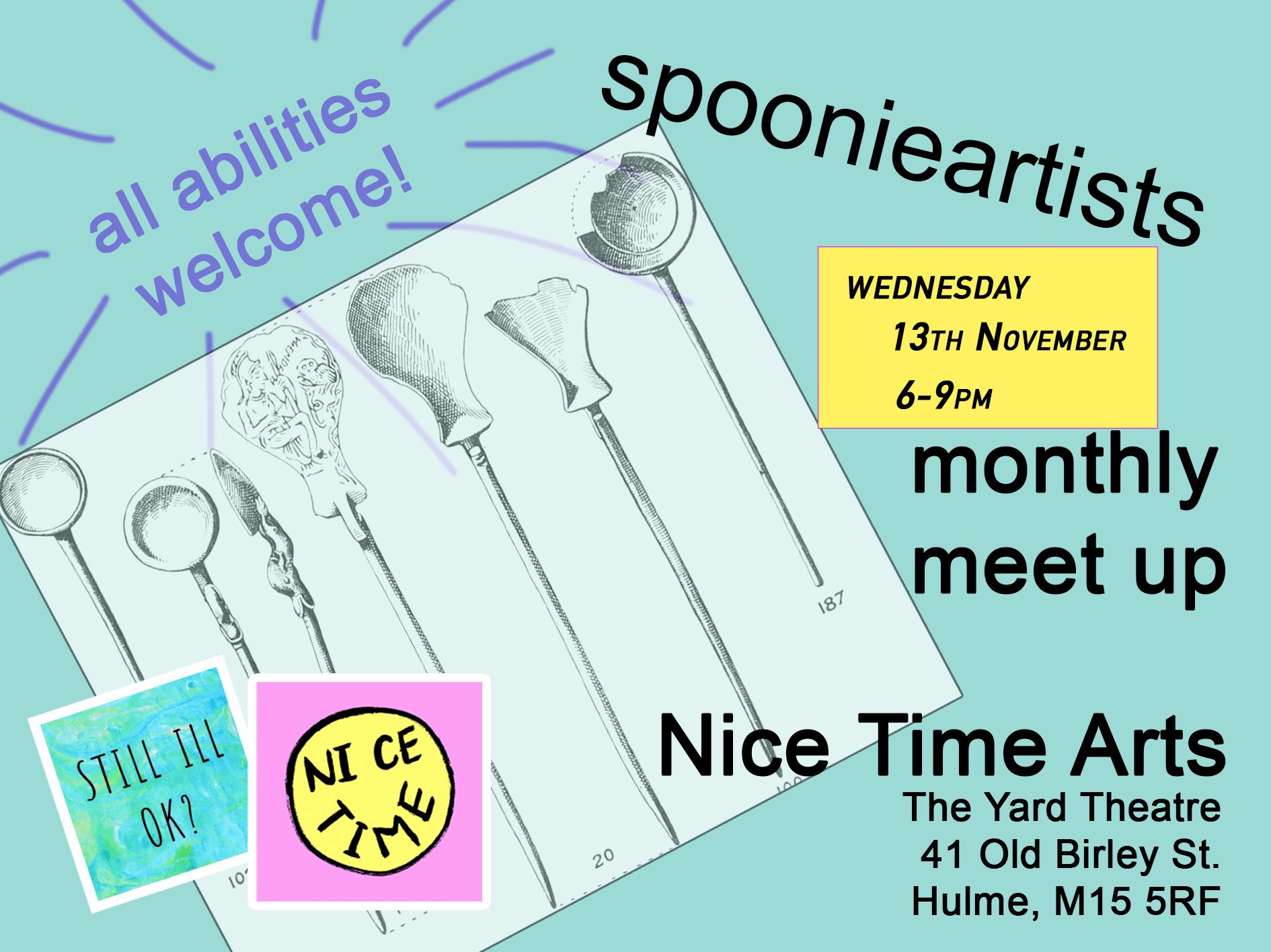 Wednesday heralds spoonie artist meet-up #2!