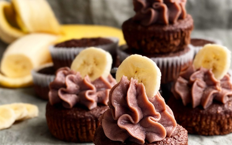 Banan- och chokladmuffins