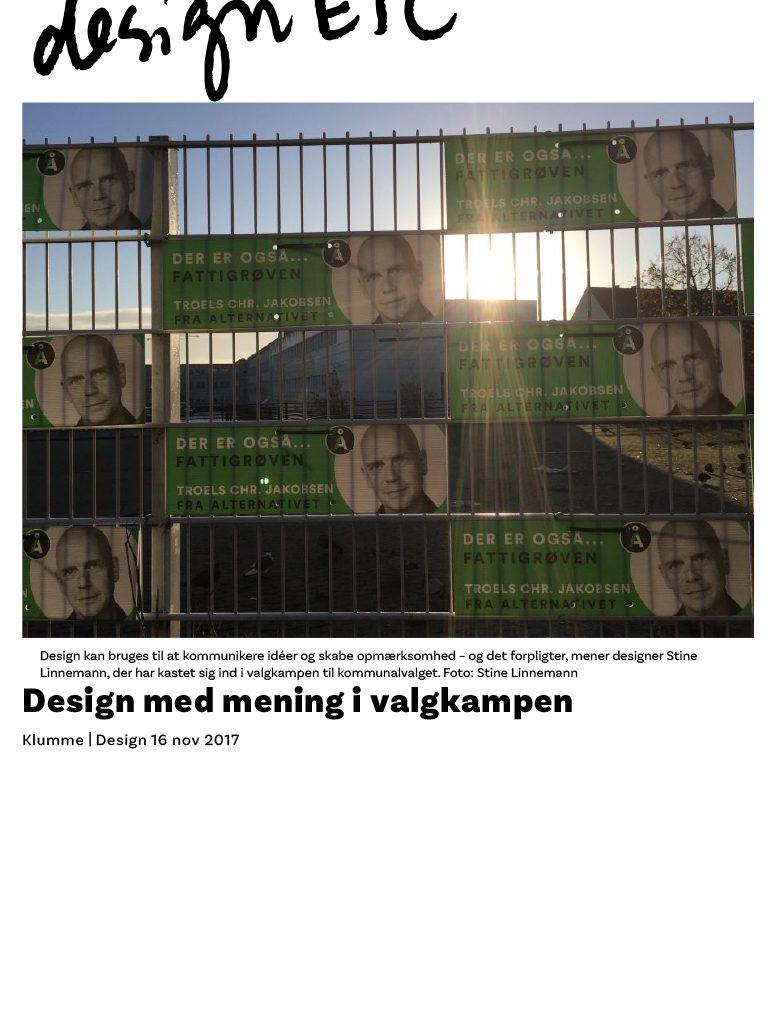 Design med mening i valgkampen - designETC