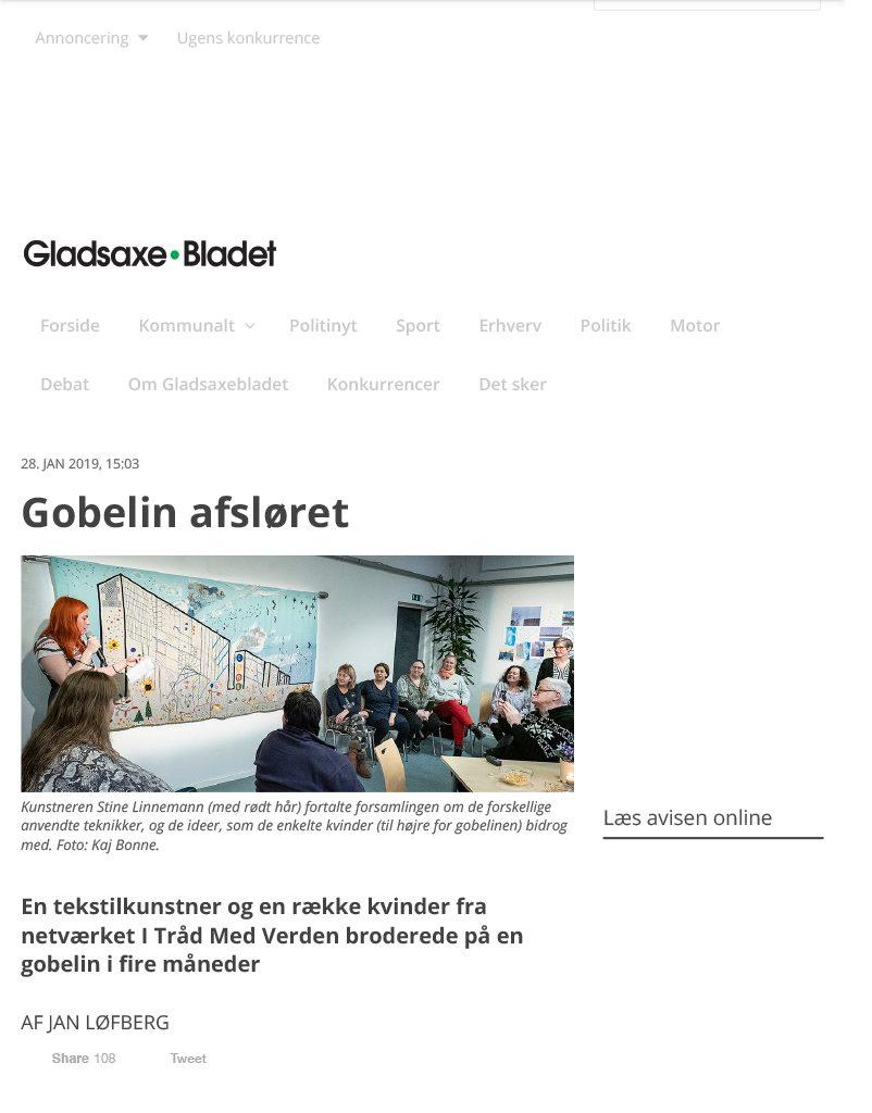 Gobelin afsløret – Gladsaxebladet