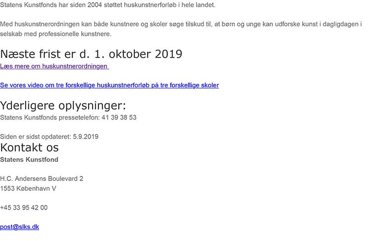 Huskunstner hejser flaget for skolebørn: Kunst.dk