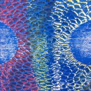 Lace stencil in use