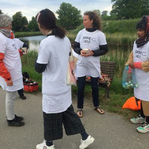 Morgengry demonstration ved Charlottenlund Fort