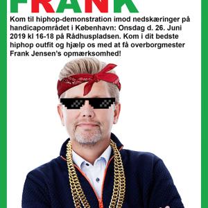 Photoshop af tidligere overborgmester i København Frank Jensen, klædt på som var han på vej til hiphop demonstration (han kom selvfølgelig ikke).