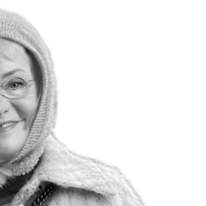 Photoshop af Pia Kjærsgaard, efter hun sprang ud som blogger for Jyllandposten. Iført passende moderigtigt blogger-gear.