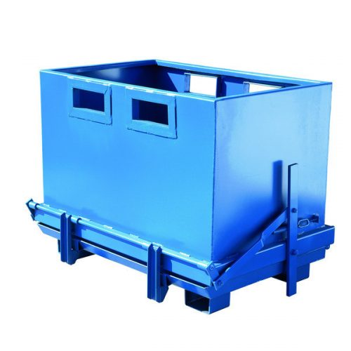 Bundtømmende container