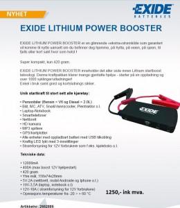 infoark exide lithium power booster