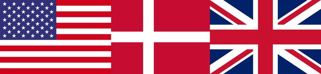 USA Denmark Great Britain Flags | StoryLoft © 2021