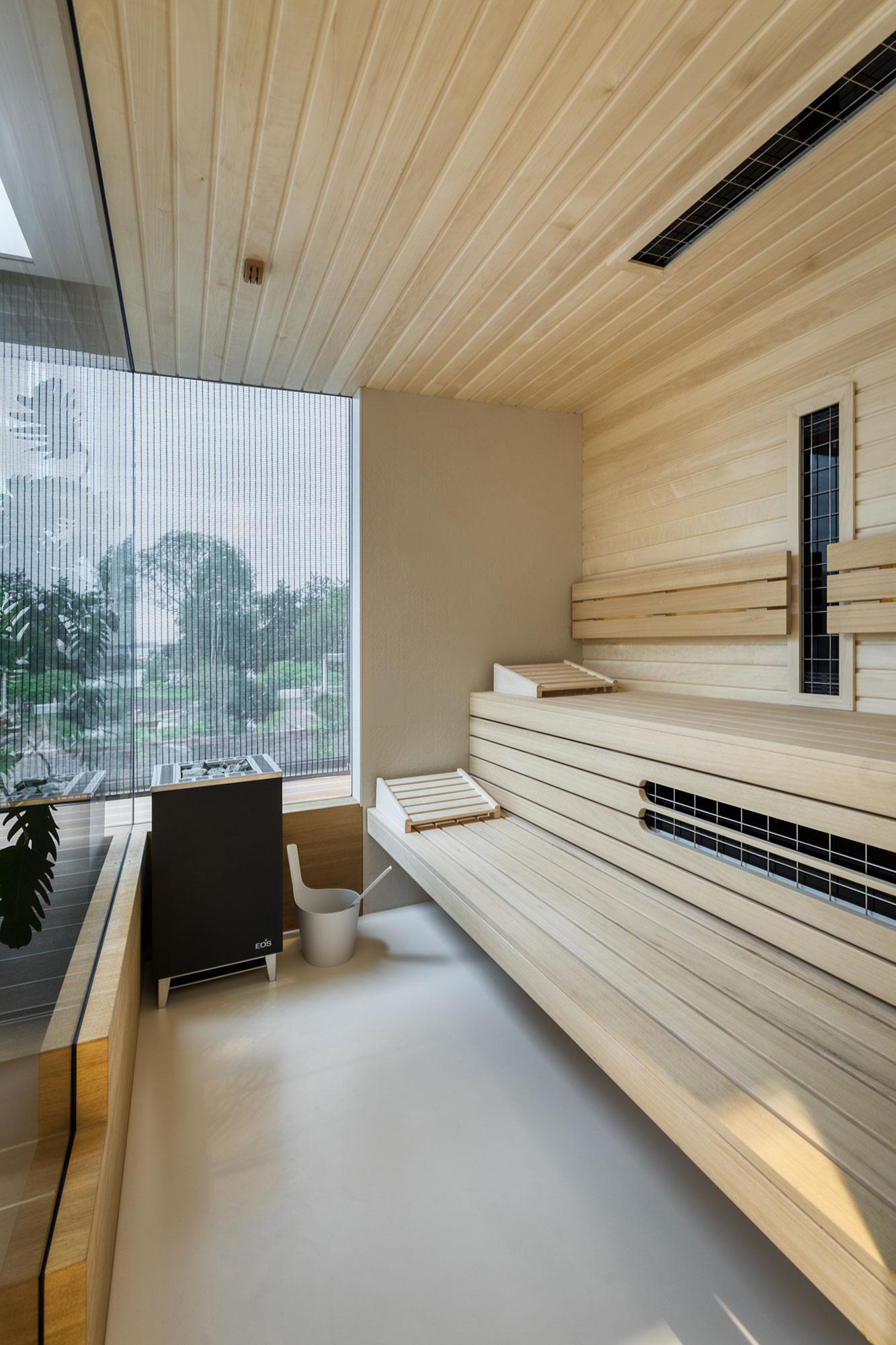 interieurarchitectuur sauna