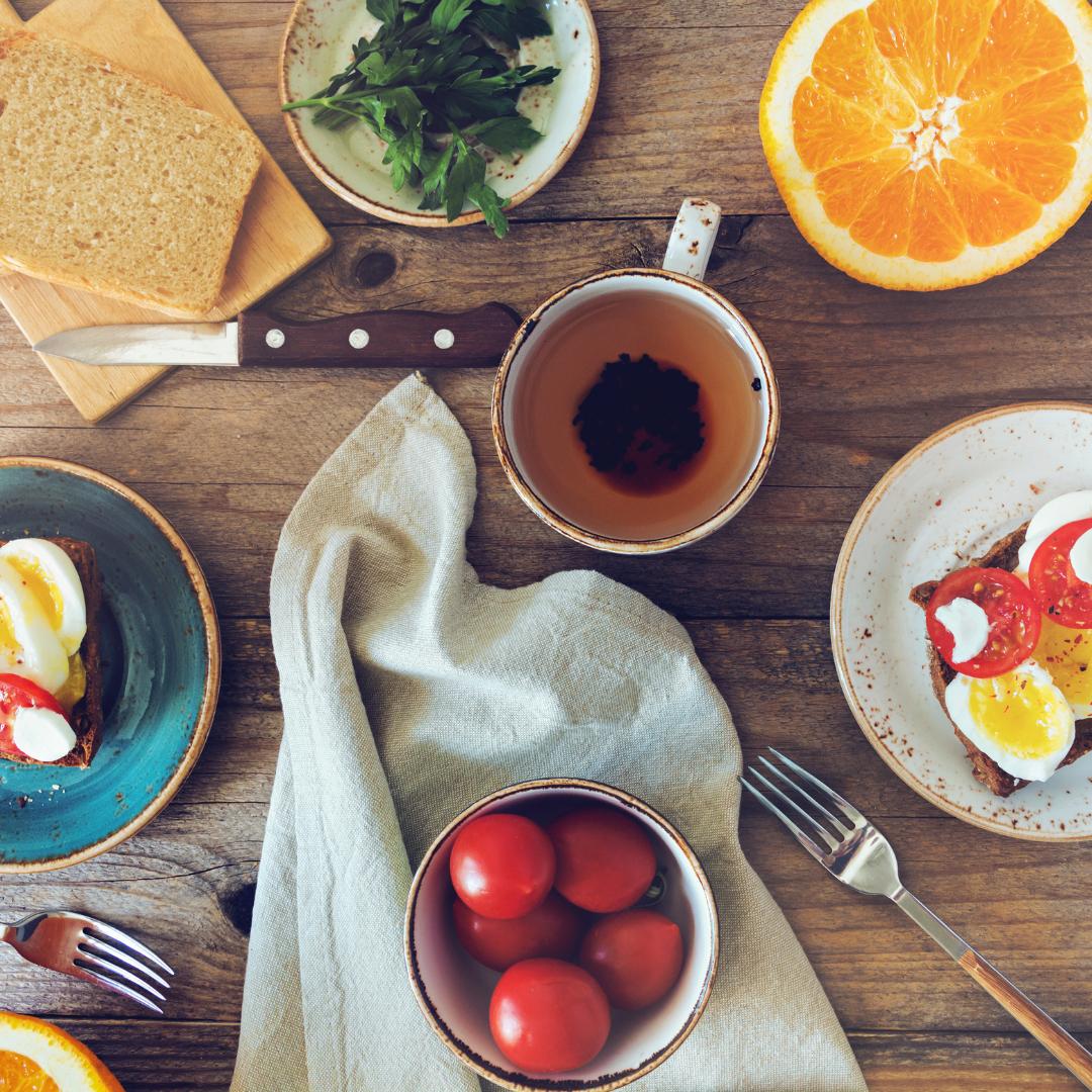 Njut av frukosen