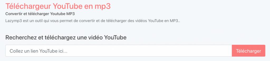 lazymp3 pour convertir vidéo youtube