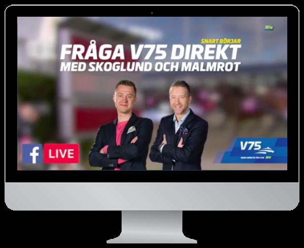 Fråga V75 Direkt – ATG – Facebook live