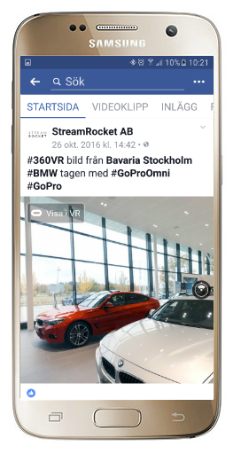 Facebook 360 Samsung telefon