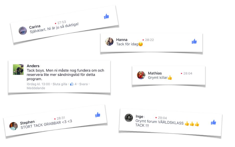 Tittarna gillar ATG på Facebook Live