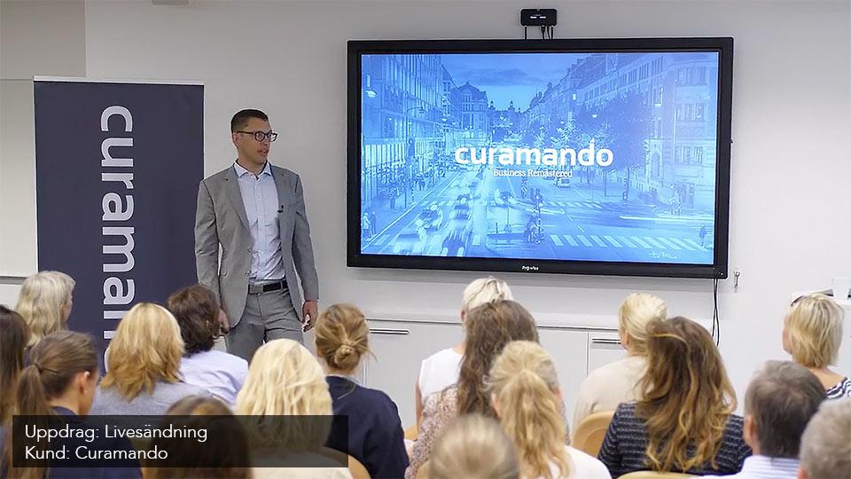 Livestreaming Stockholm - uppdrag åt Curamando