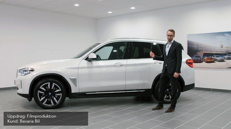 Filmproduktion för Bavaria Bil inför lanseringen av BMW iX3
