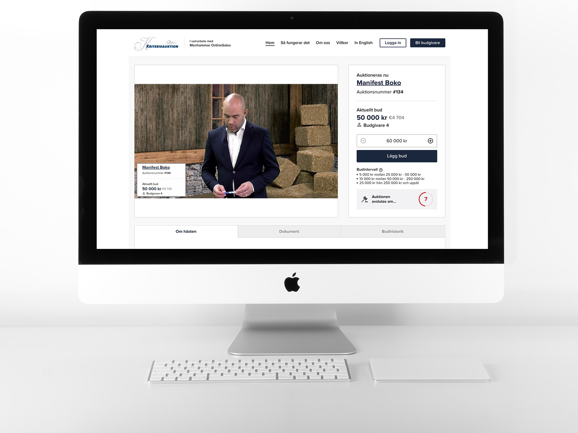 Menhammar Online Sales produced by Streamrocket AB