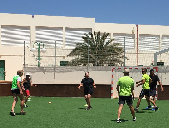 Street Handball Match at Club La Santa, Lanzarote, Spain with Singleture