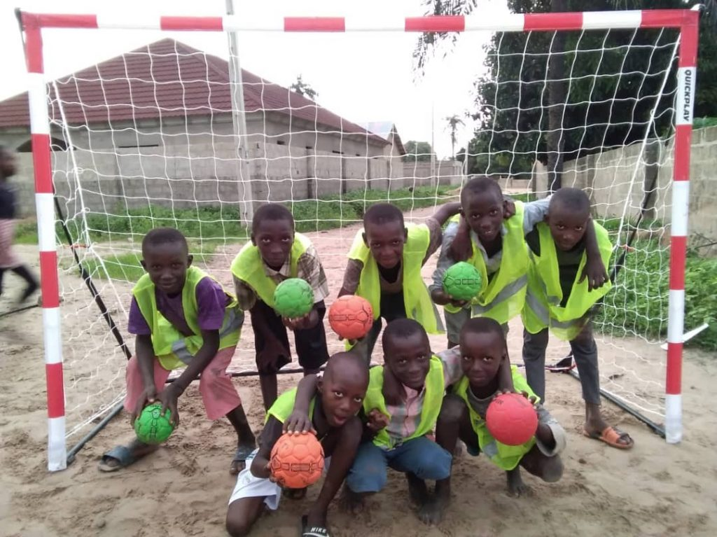 Street Handball Gambia inspired children to play and have fun in Batokunku village, South Gambia