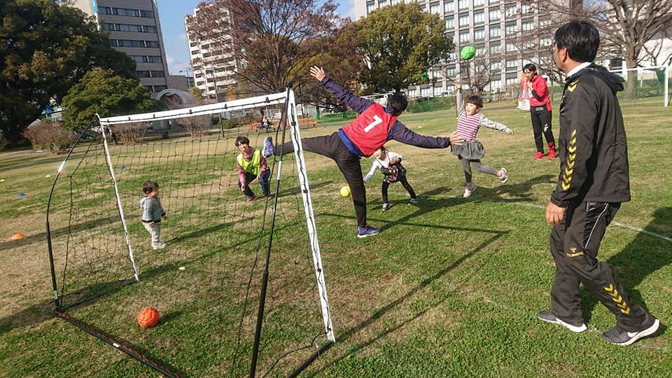 Japan Street Handball Federation payed visit to Women's World Handball Championship Kumamoto, Shirakawa Park