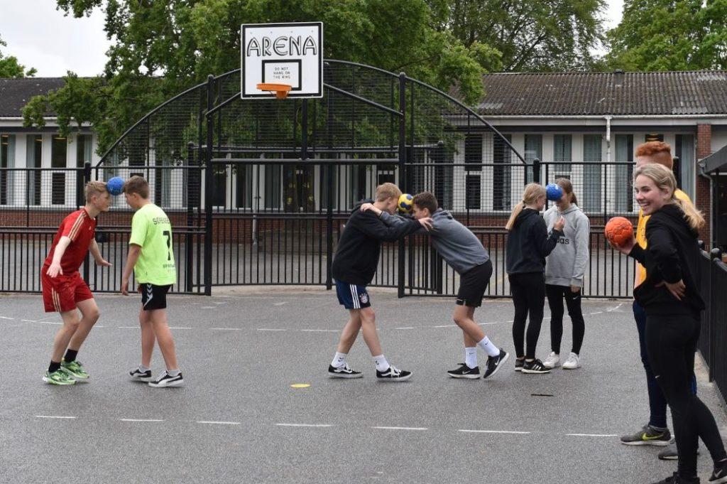Street Handball at school, How to play, Fair Play rules, Multi court, Bakkevejens Skole, Bramming, Denmark