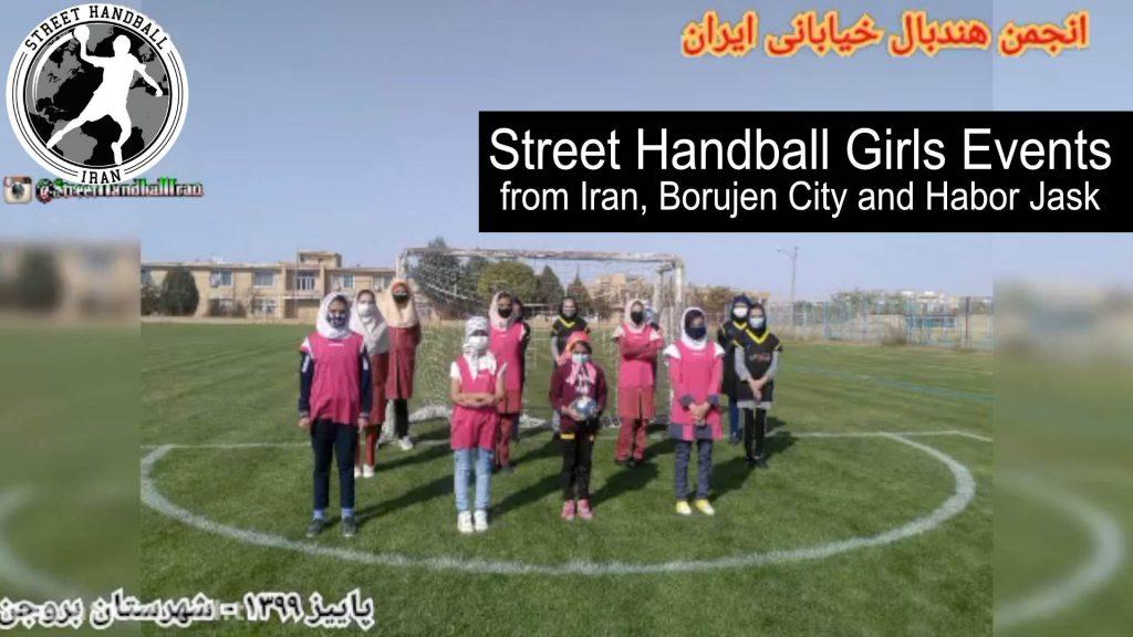 Street Handball girls events from Iran, Borujen city and Harbor Jask
