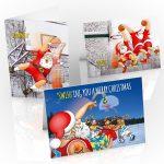 backetball christmas card mixed designs 3 card pack