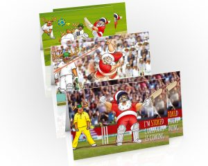 cricket christmas cards mixed 6 card pack