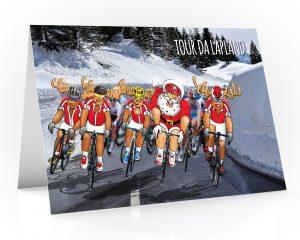 cycling christmas card tour da france single card