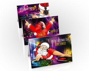 dj christmas cards mixed 3 card pack