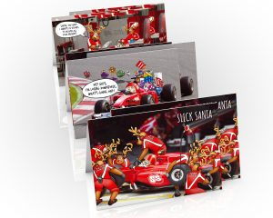 formula one christmas cards 6 card mix pack