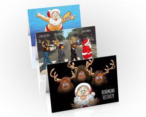 queen beatles nirvana christmas cards 3 card pack