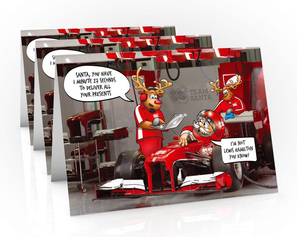 formula one christmas card lewis hamilton 3 card pack
