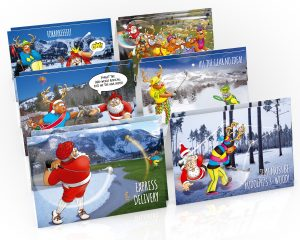 golf christmas cards mixed 12 card pack
