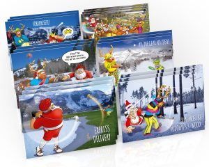 golf christmas cards mixed 18 card pack