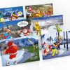golf christmas cards 6 card pack