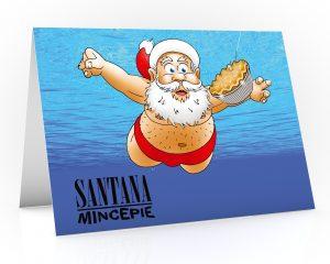 nirvana christmas card single card