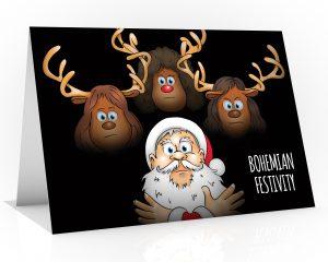 queen christmas card parody of bohemian rhapsody single card